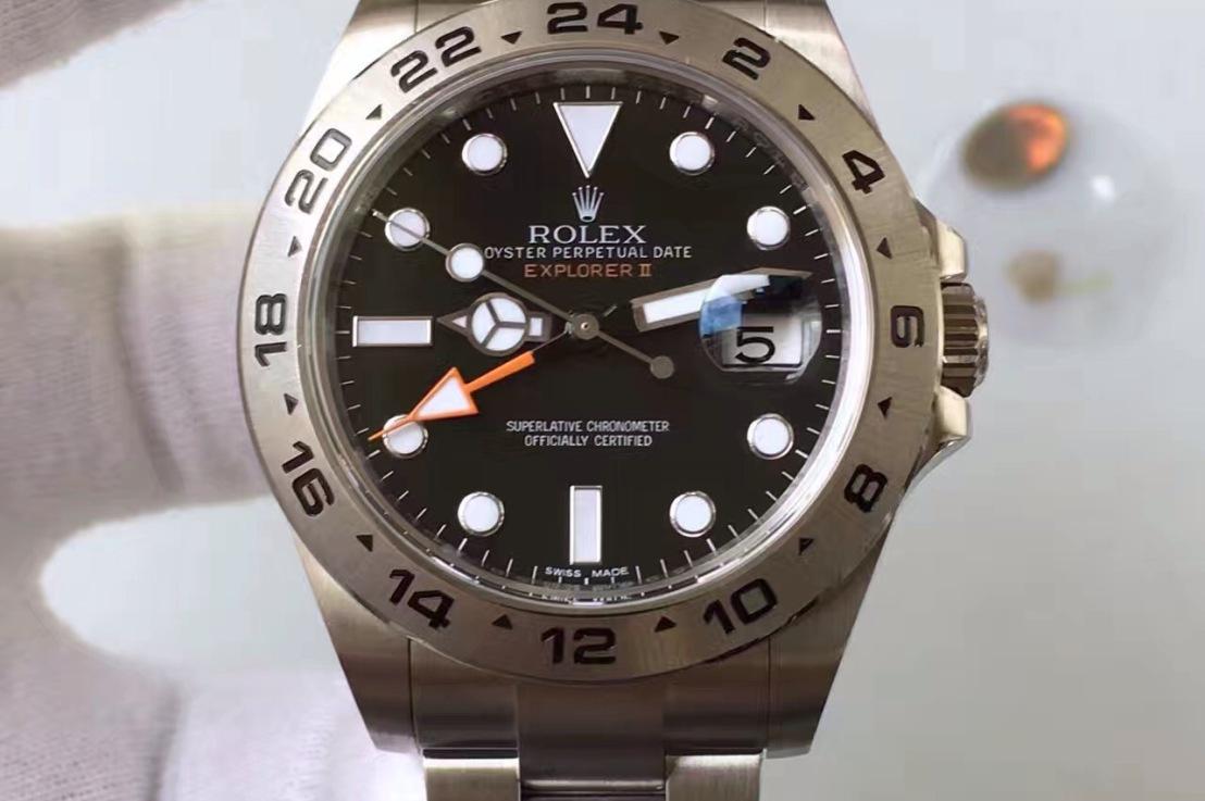 Best GMT Rolex Explorer II 42mm, Replica with 3187 SwissMovement